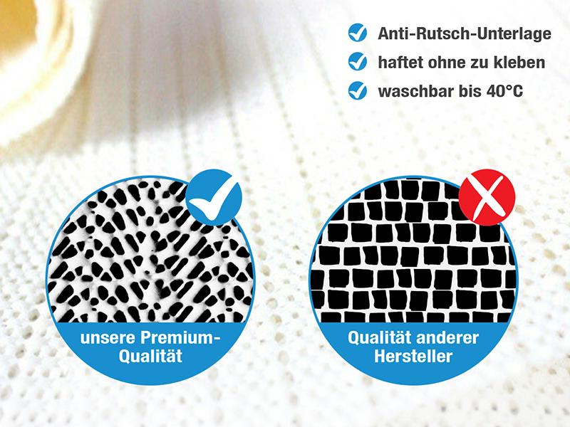 haftplus antirutschmatte teppichunterlage zur vermeidung von stolperfallen. Black Bedroom Furniture Sets. Home Design Ideas